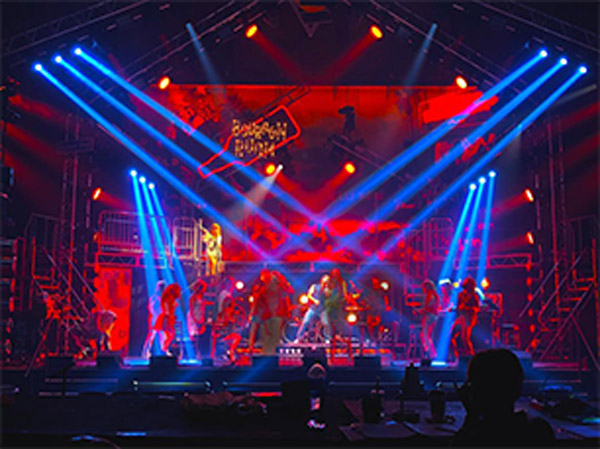 Rock of Ages 10th Anniversary Tour visual storytelling by David Gallo Design