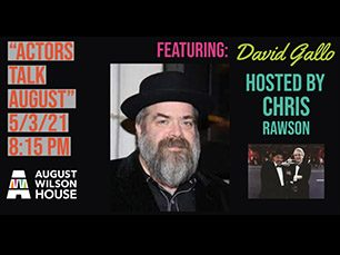 promotional flyer for an interview with August Wilson's set designer David Gallo